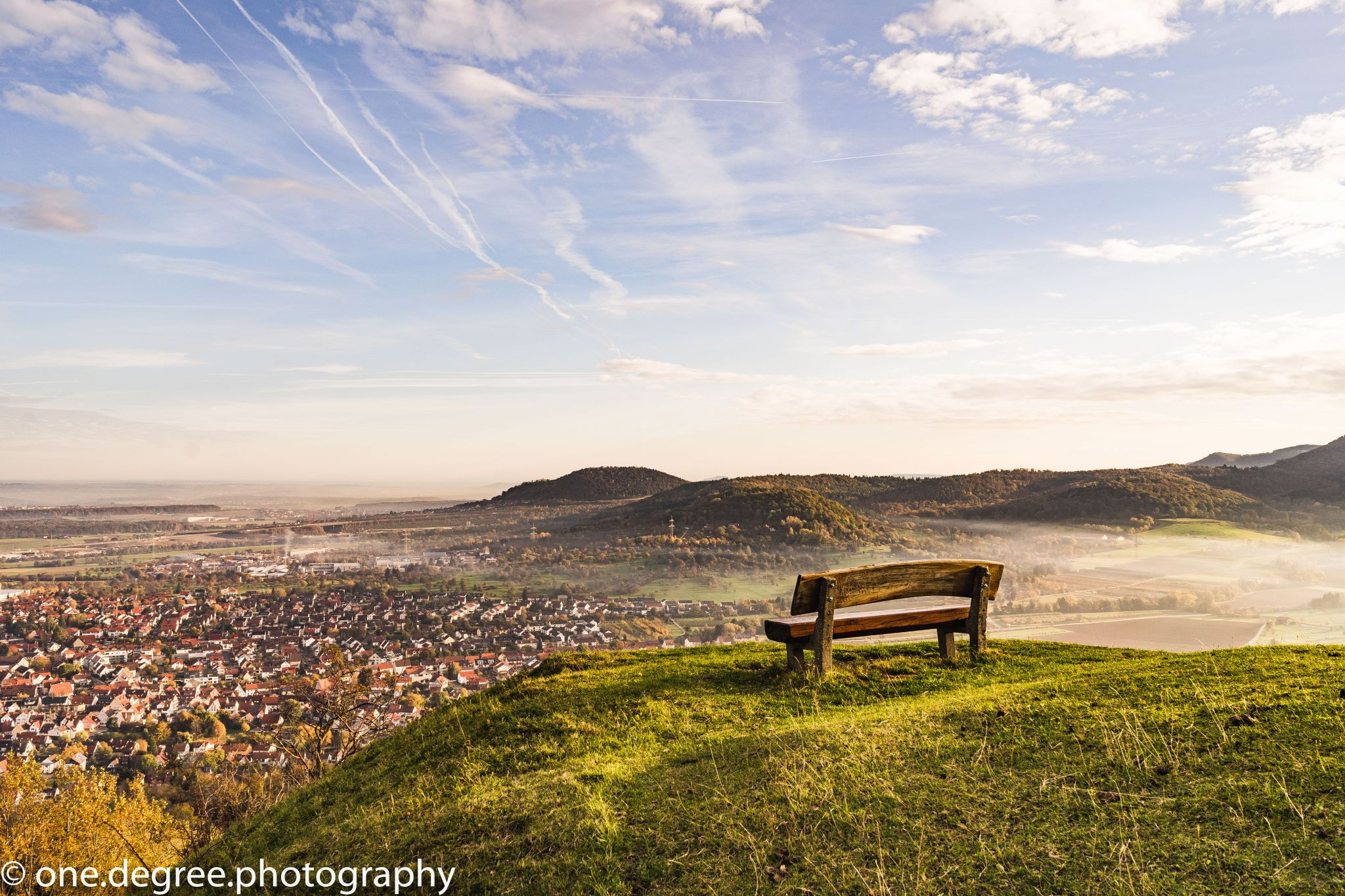 Bench on top of the hill, Germany