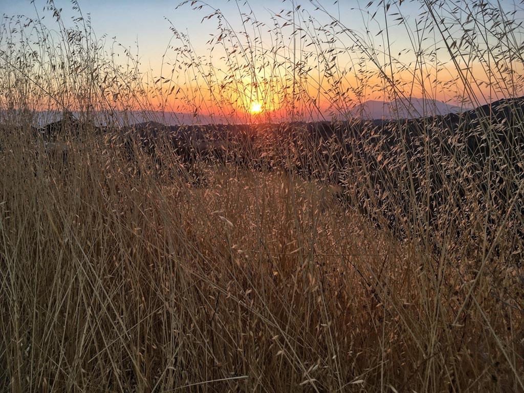 Fall sunrise in Lakeport, CA, USA
