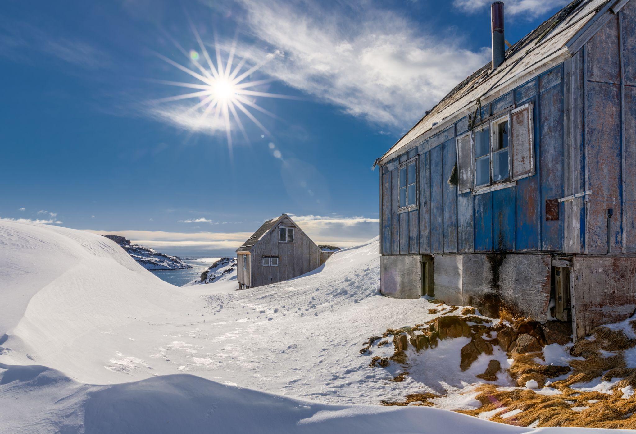 Abandoned house in Kulusuk, East Greenland, Greenland