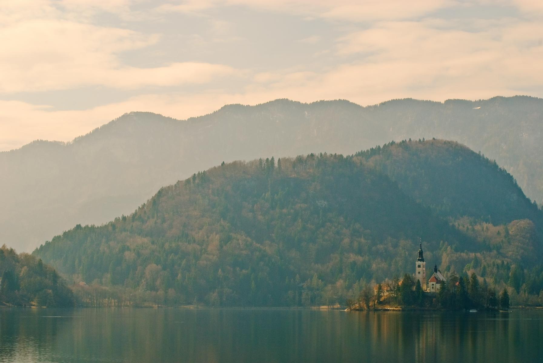 Bled lake and island, Slovenia