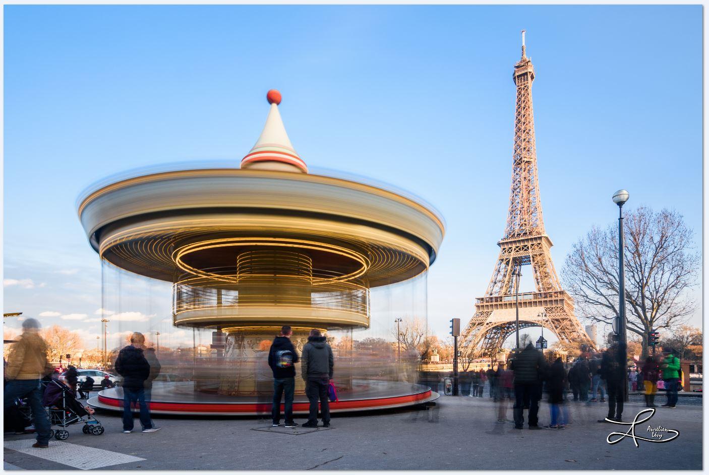 Eiffel Tower's Carroussel, France