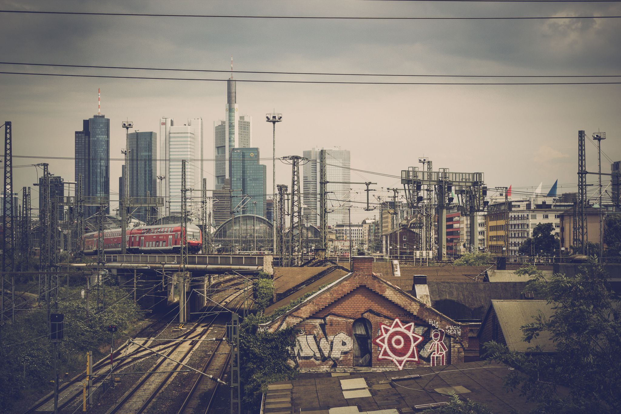Frankfurt, main station from the backside, Germany