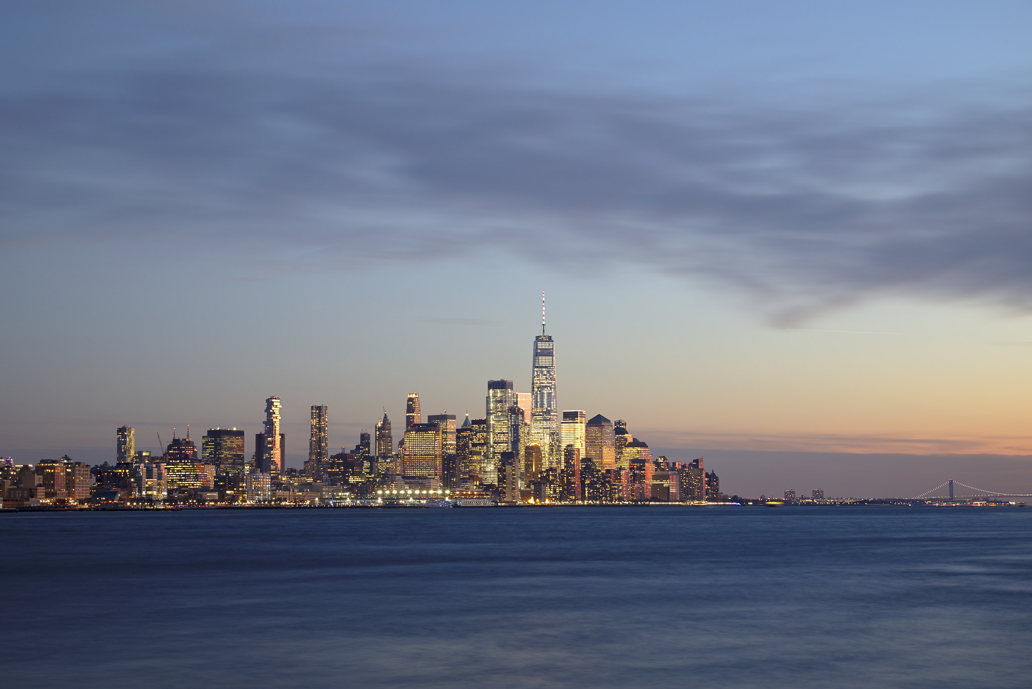 Lower Manhattan as seen from The Riva Pointe (NJ), USA