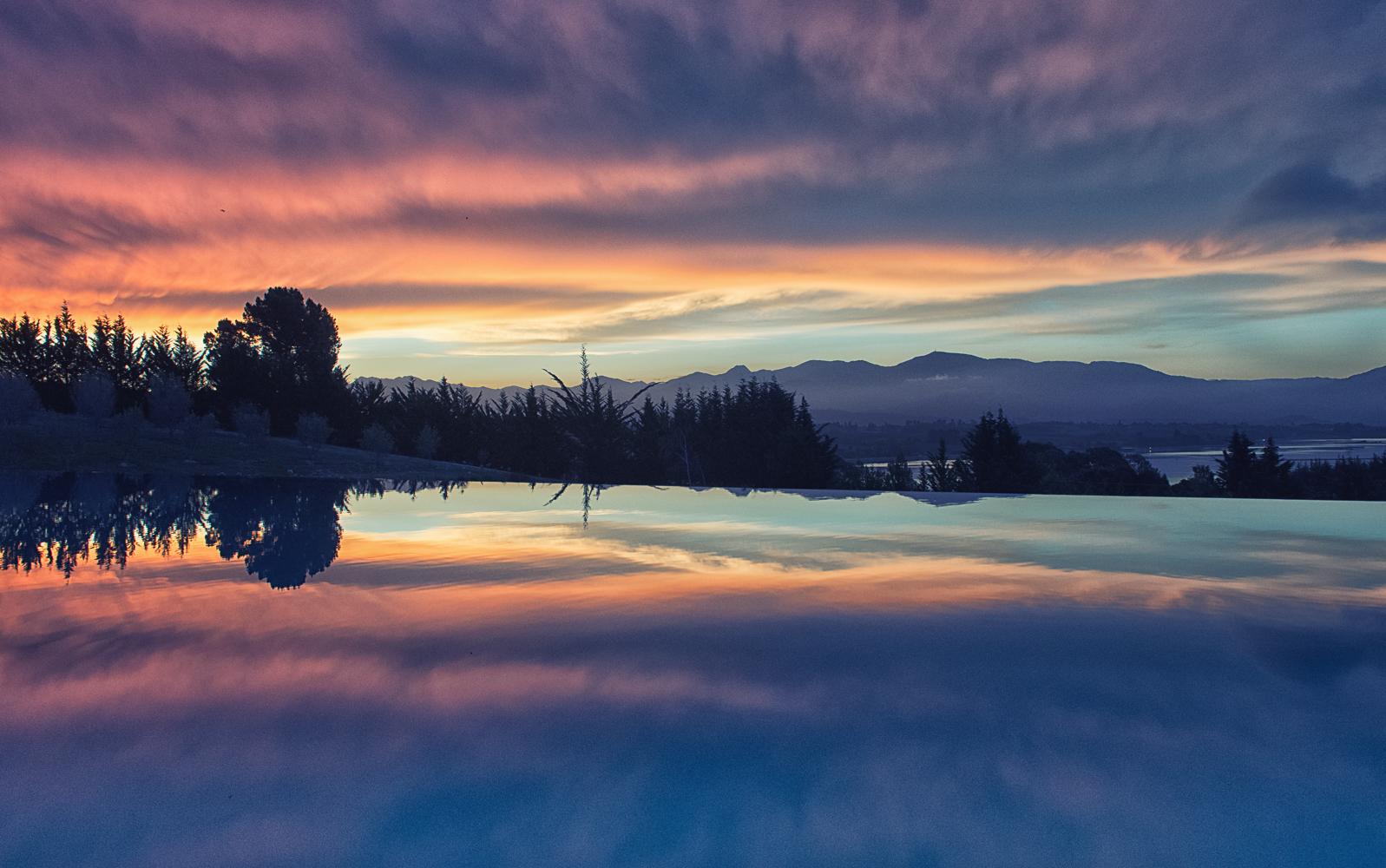 Mount Arthur mirror image, New Zealand