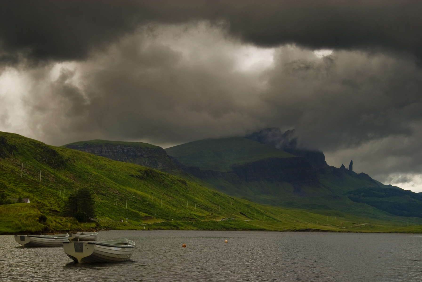 Old Man of Storr (boat on the foreground), United Kingdom