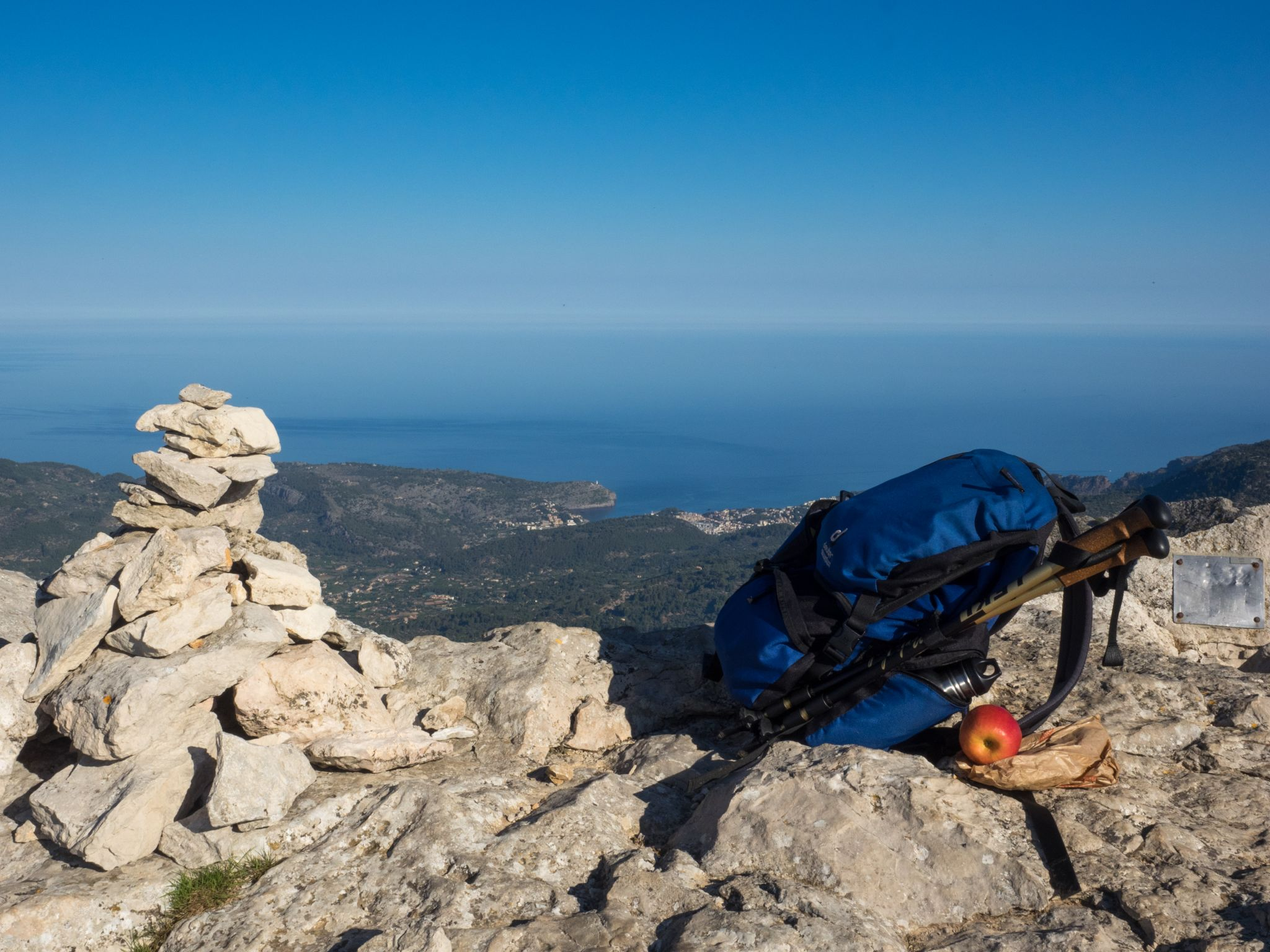 on top of l'ofre in the tramuntana mountains, Spain