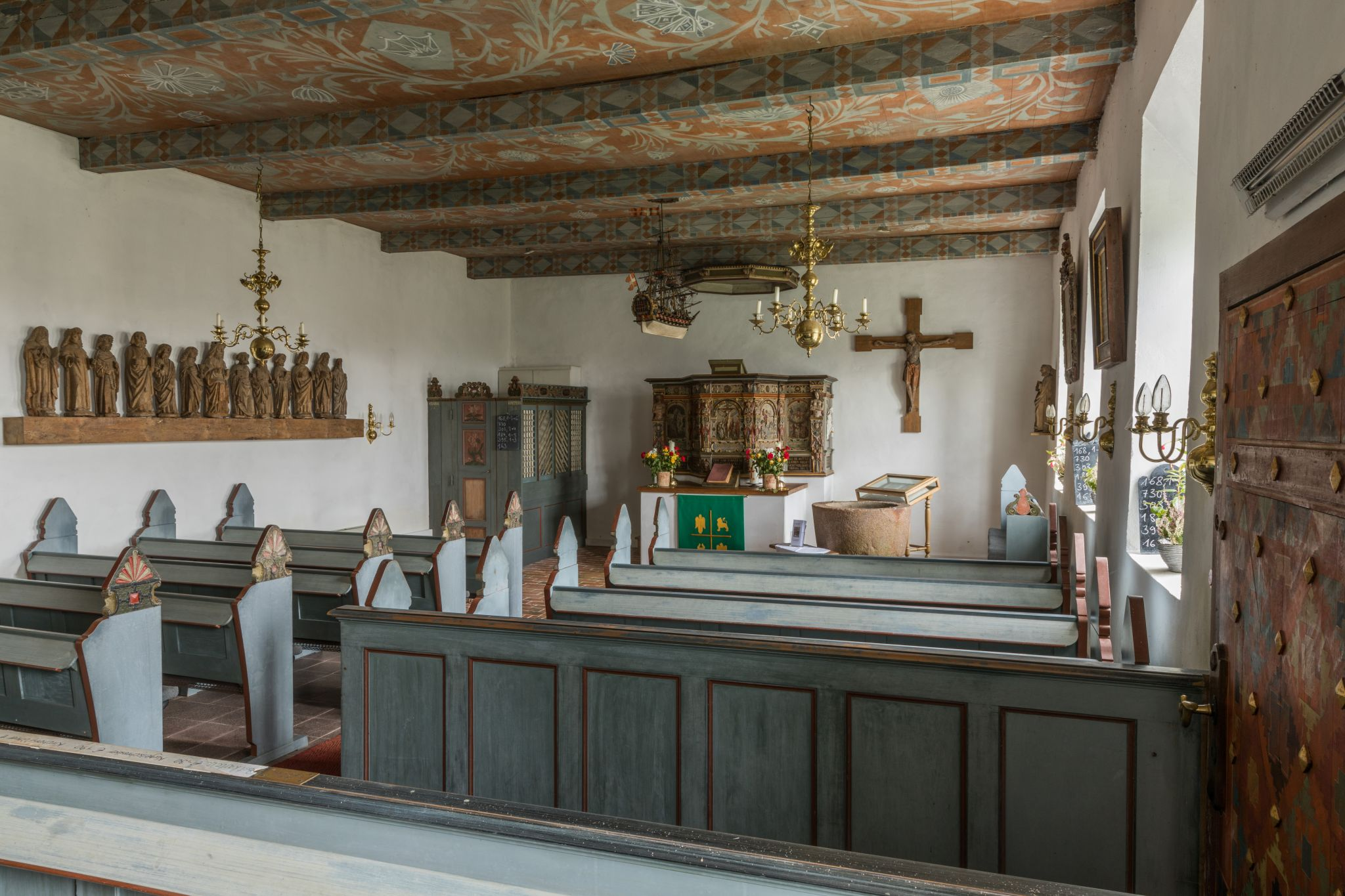 St. Petri church, Hallig Oland, Germany