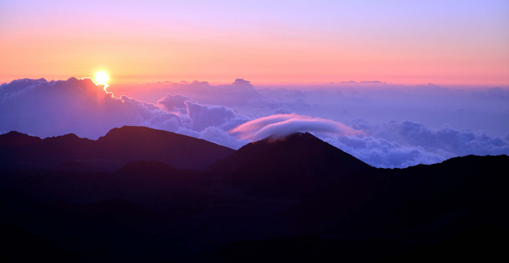 Sunrise at Haleakala National Park, Maui, Hawaii, USA