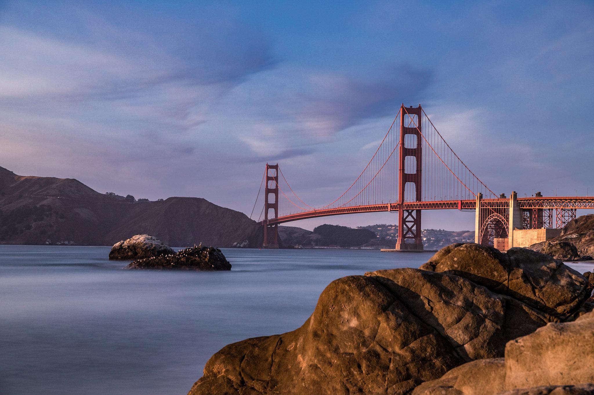 Golden Gate Bridge from Baker Beach, USA
