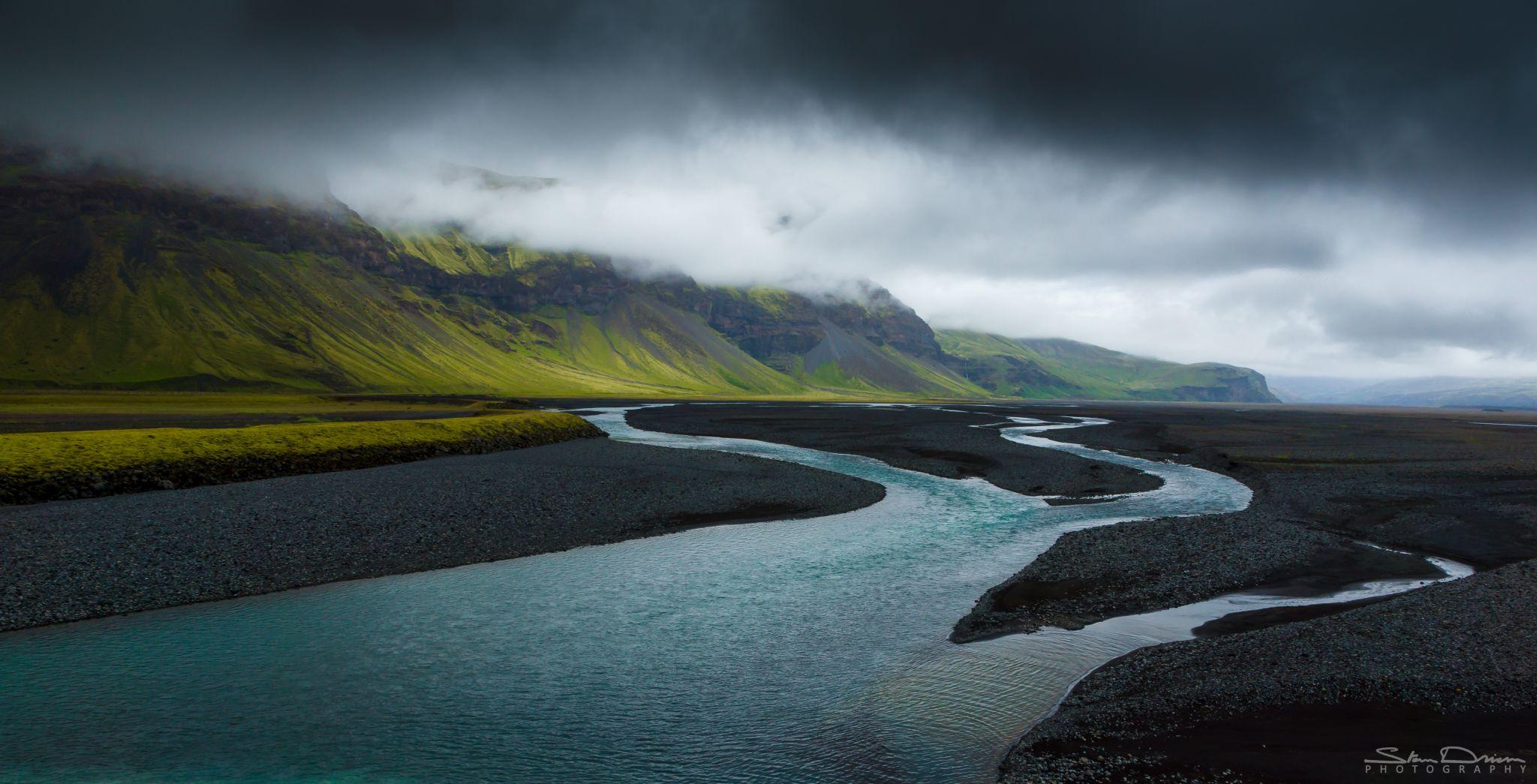 Iceland river delta, Iceland