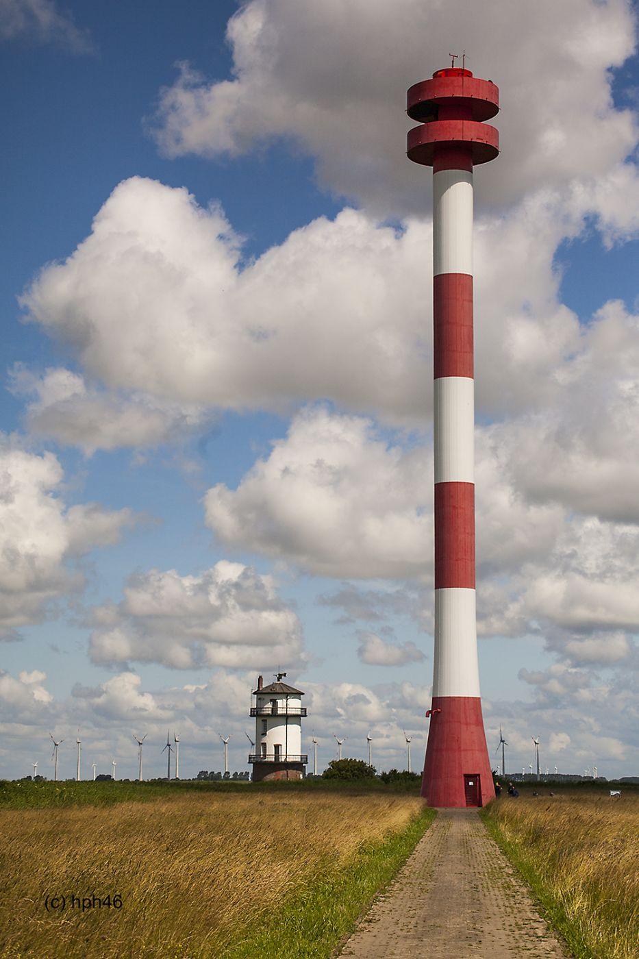 Lighthouses in Balje, Germany
