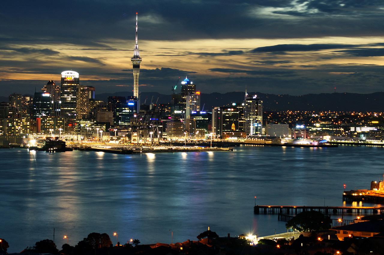 Auckland City taken from Mt Victoria, Devonport, New Zealand
