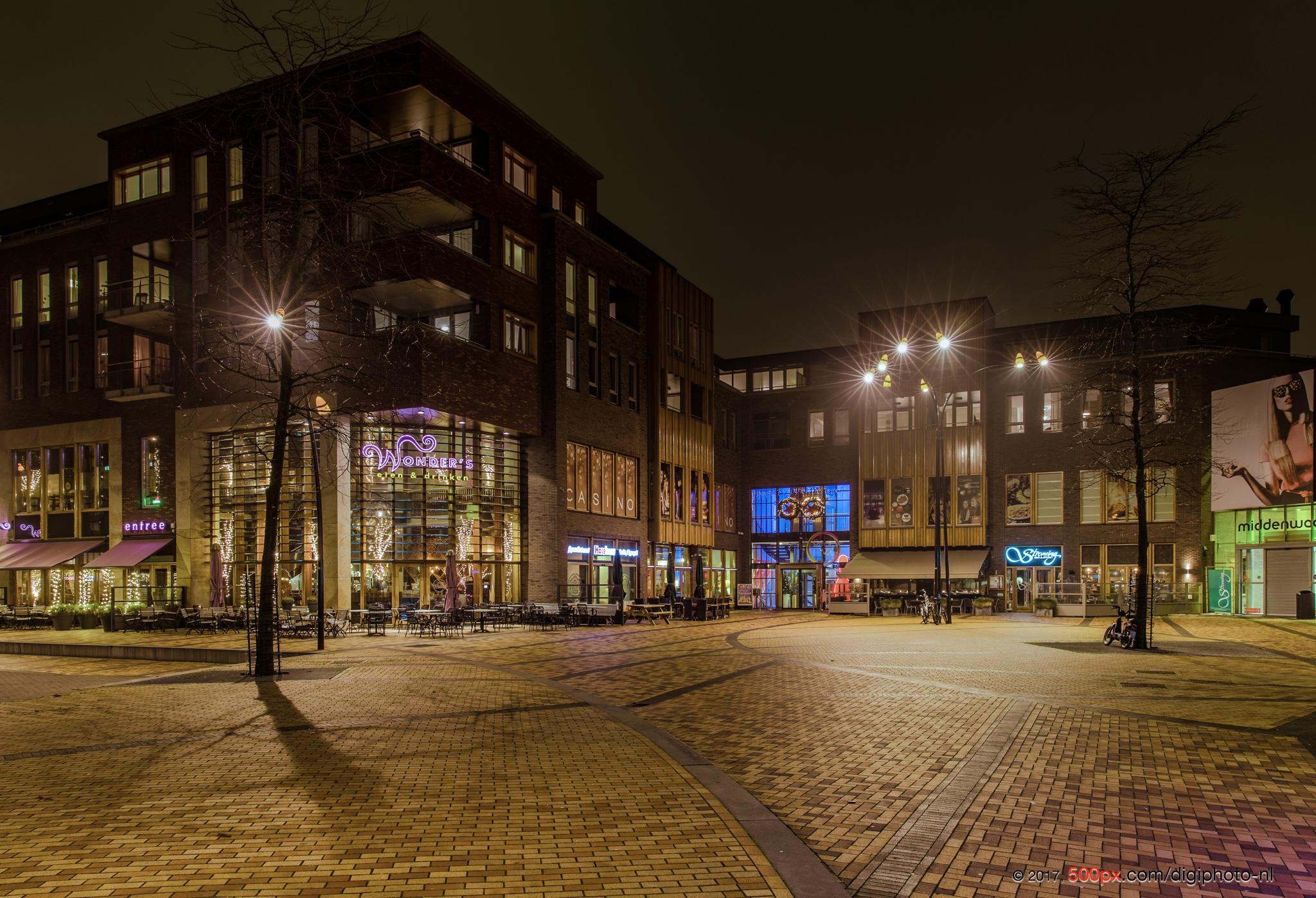 Night in Heerhugowaard, Netherlands