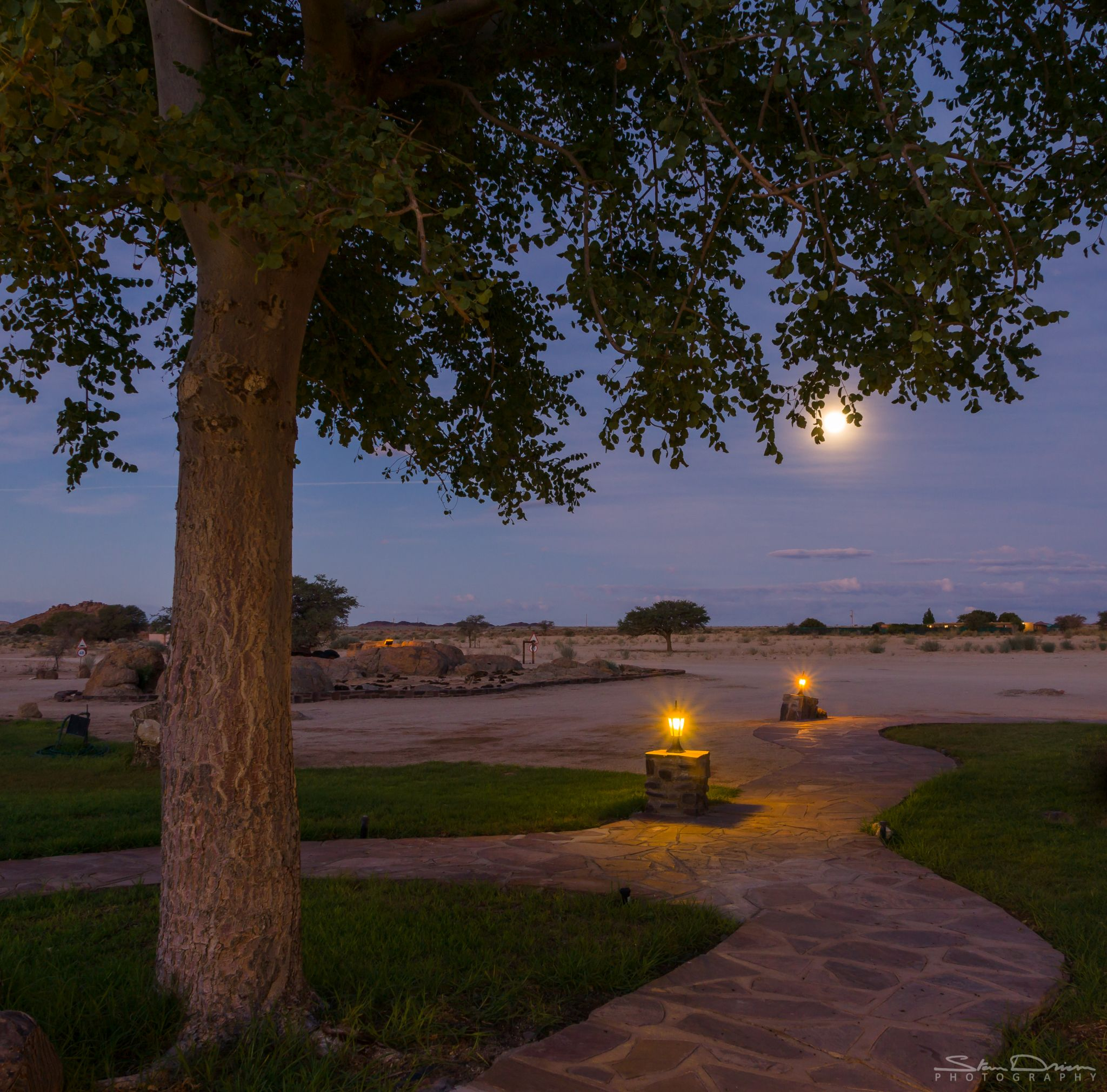 Path to the moon, Namibia