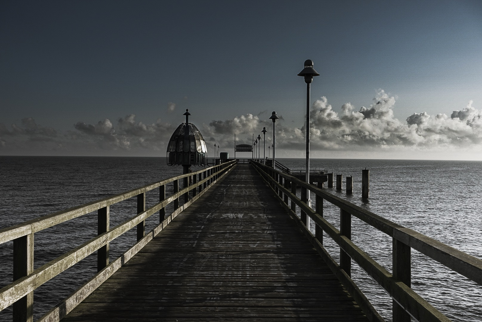 Pier in the morning, Germany