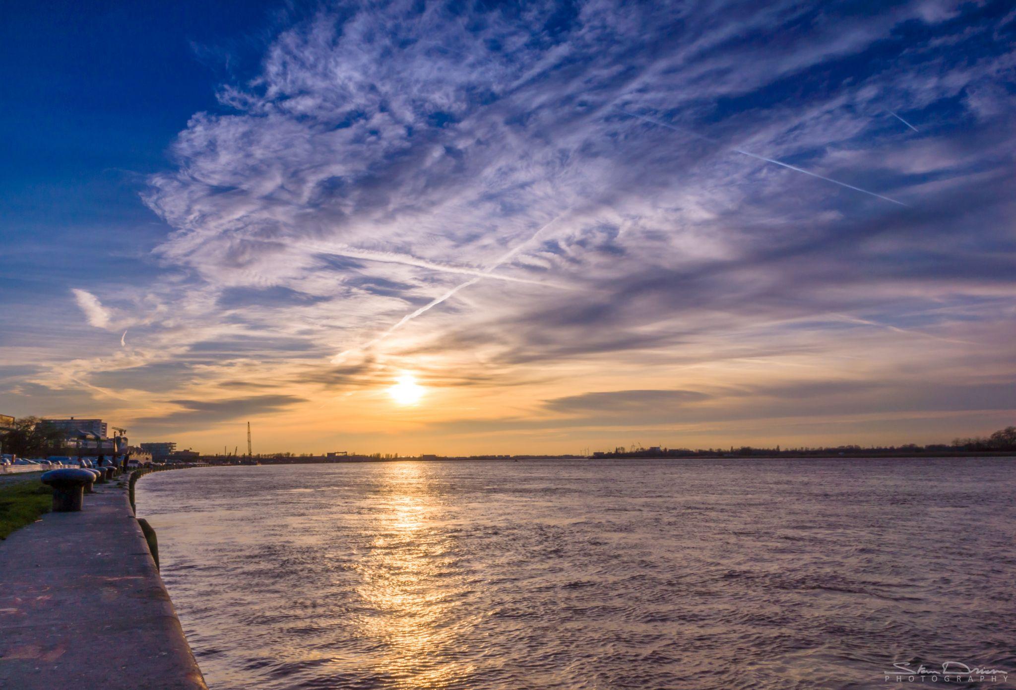 River Schelde Sunset, Belgium