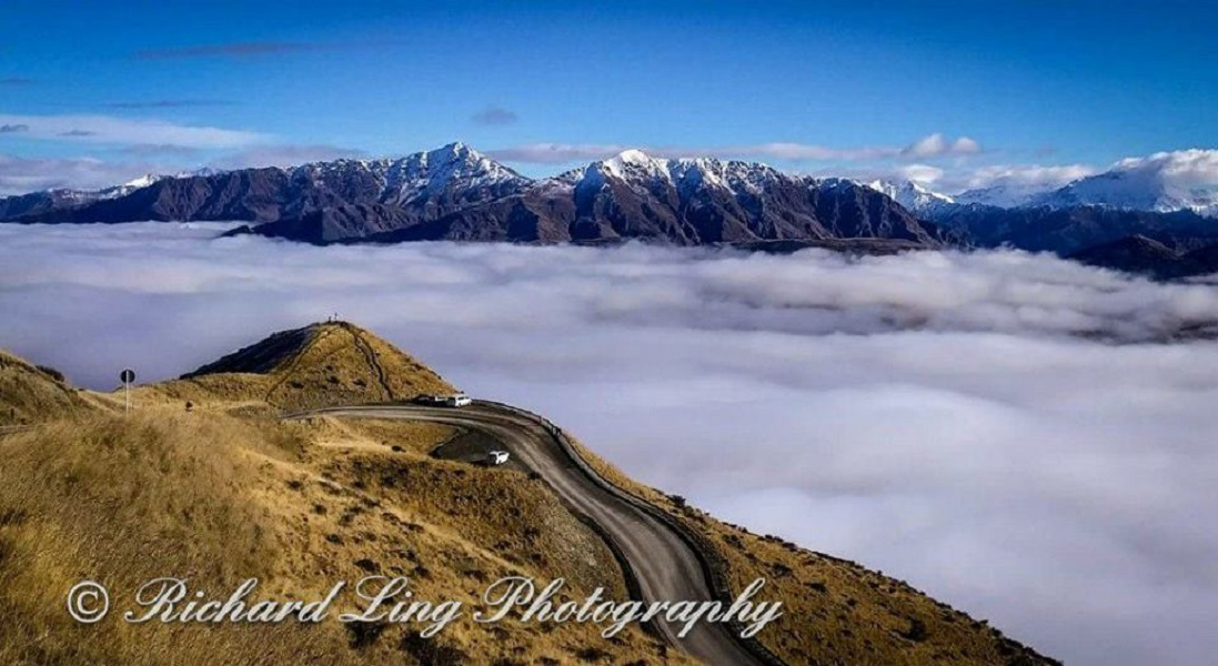 Road to Remarkables Ski Field, New Zealand