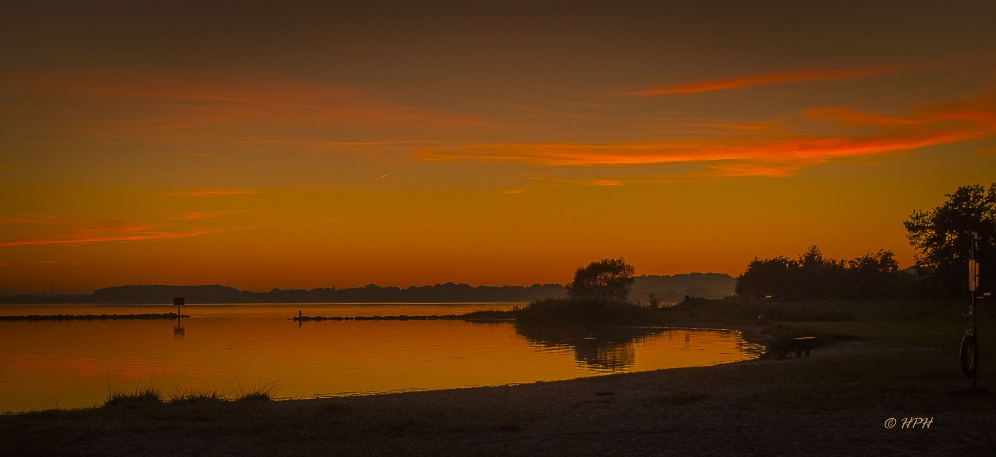 Sunset at the Schlei, Germany