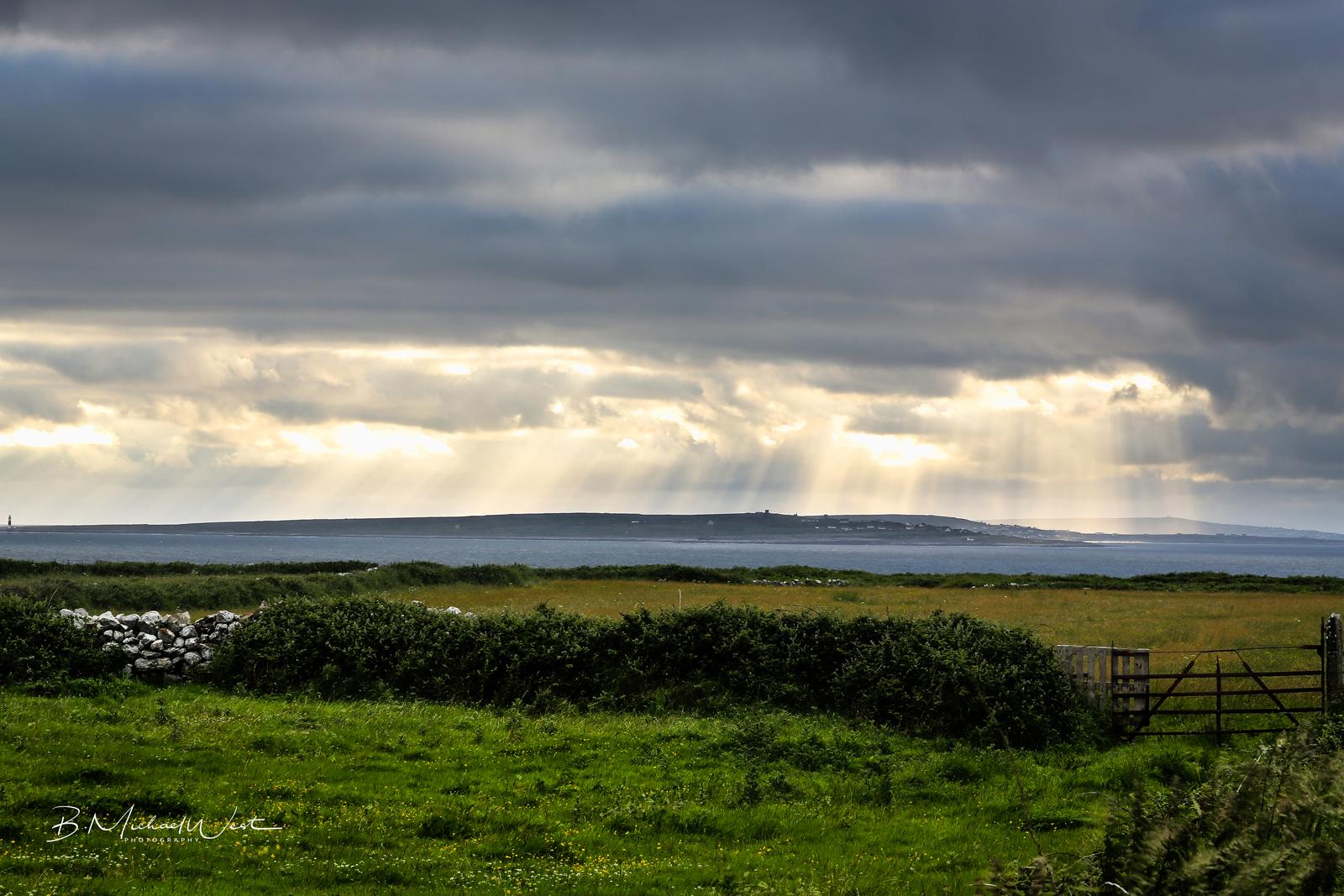 Sunset on the Aran Islands from Doolin, County Clare, Ireland