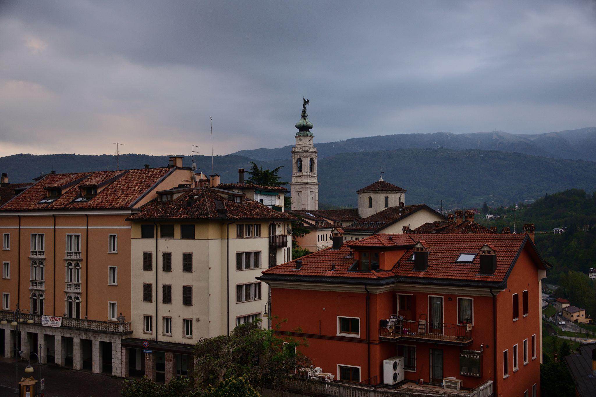Belluno at daybreak, Italy