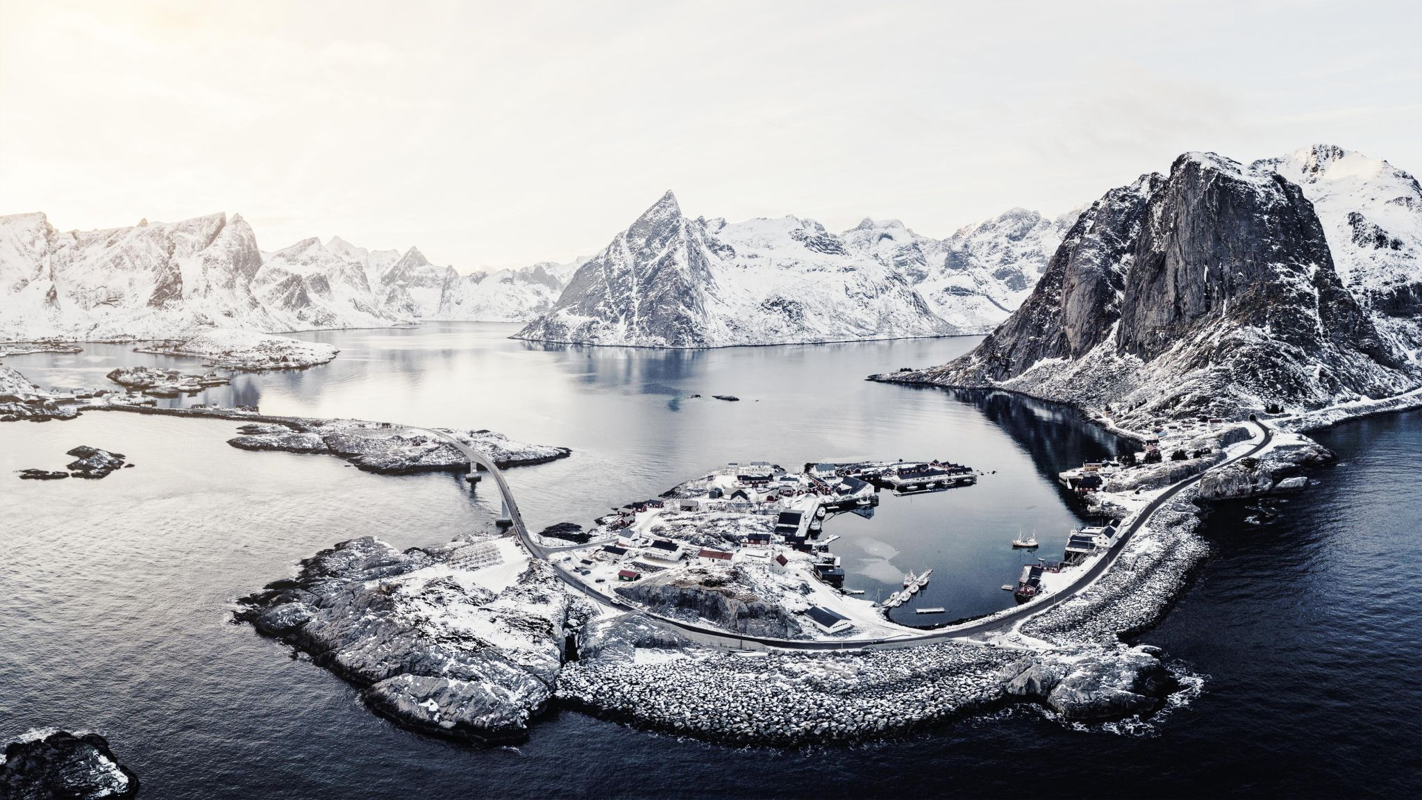 Bird View of Hamnoya, Lofoten, Norway