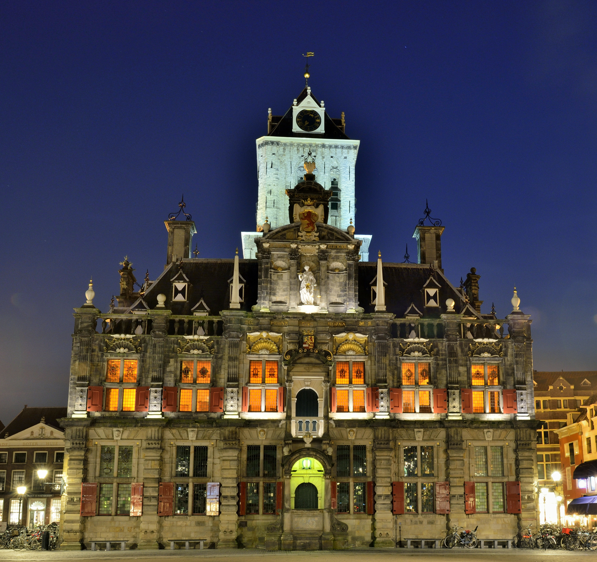 City Hall in Delft, Netherlands