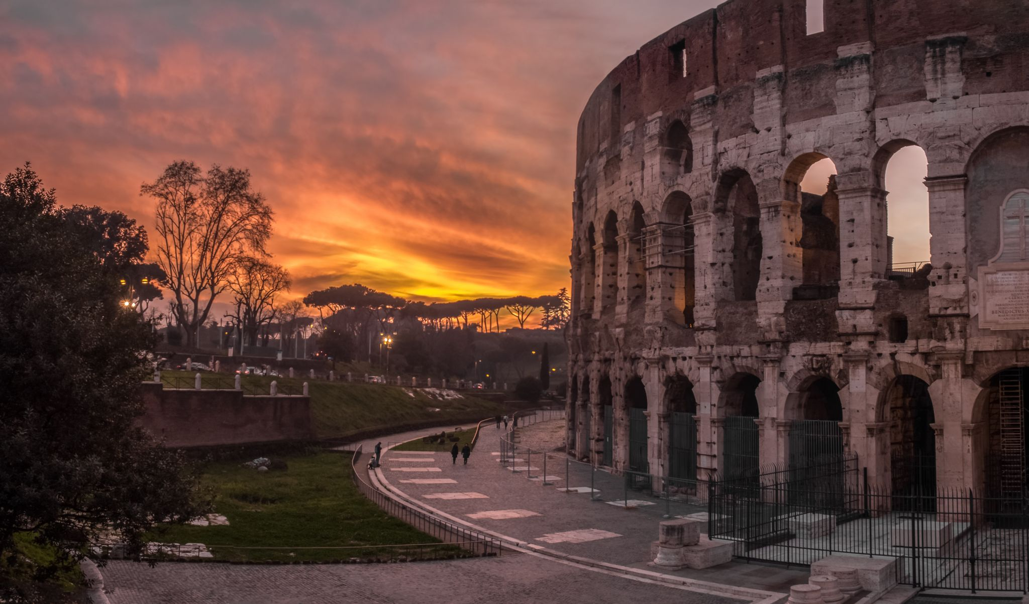 Colosseum at sunset, Italy