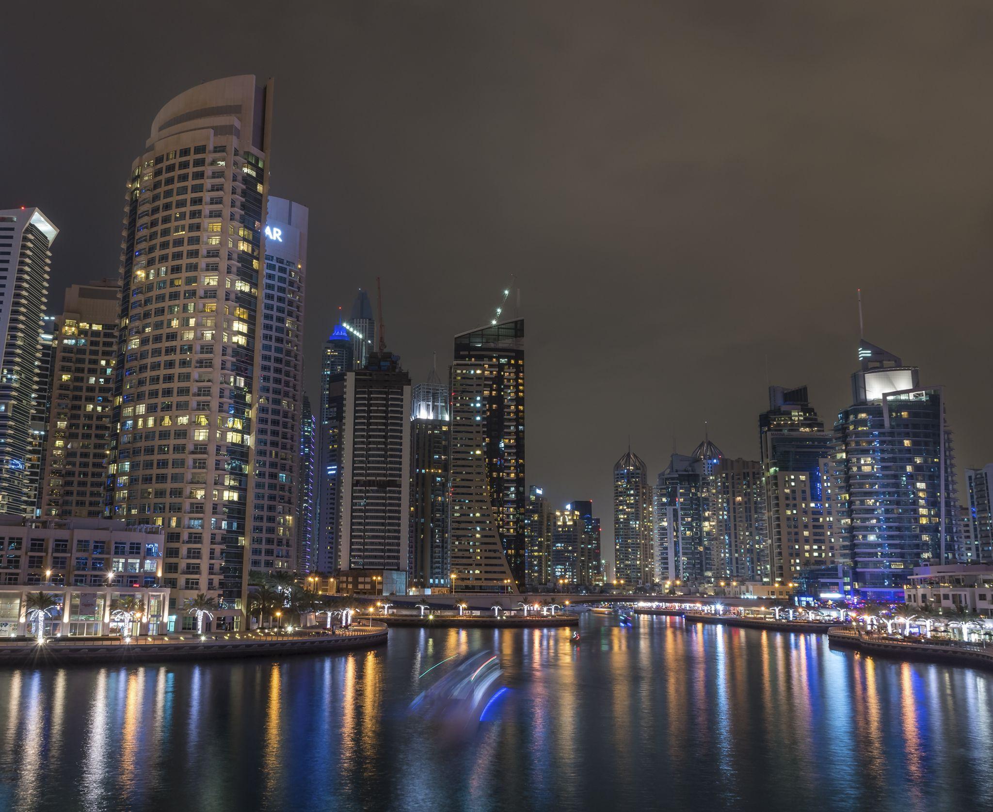 Dubai Marina Night, United Arab Emirates