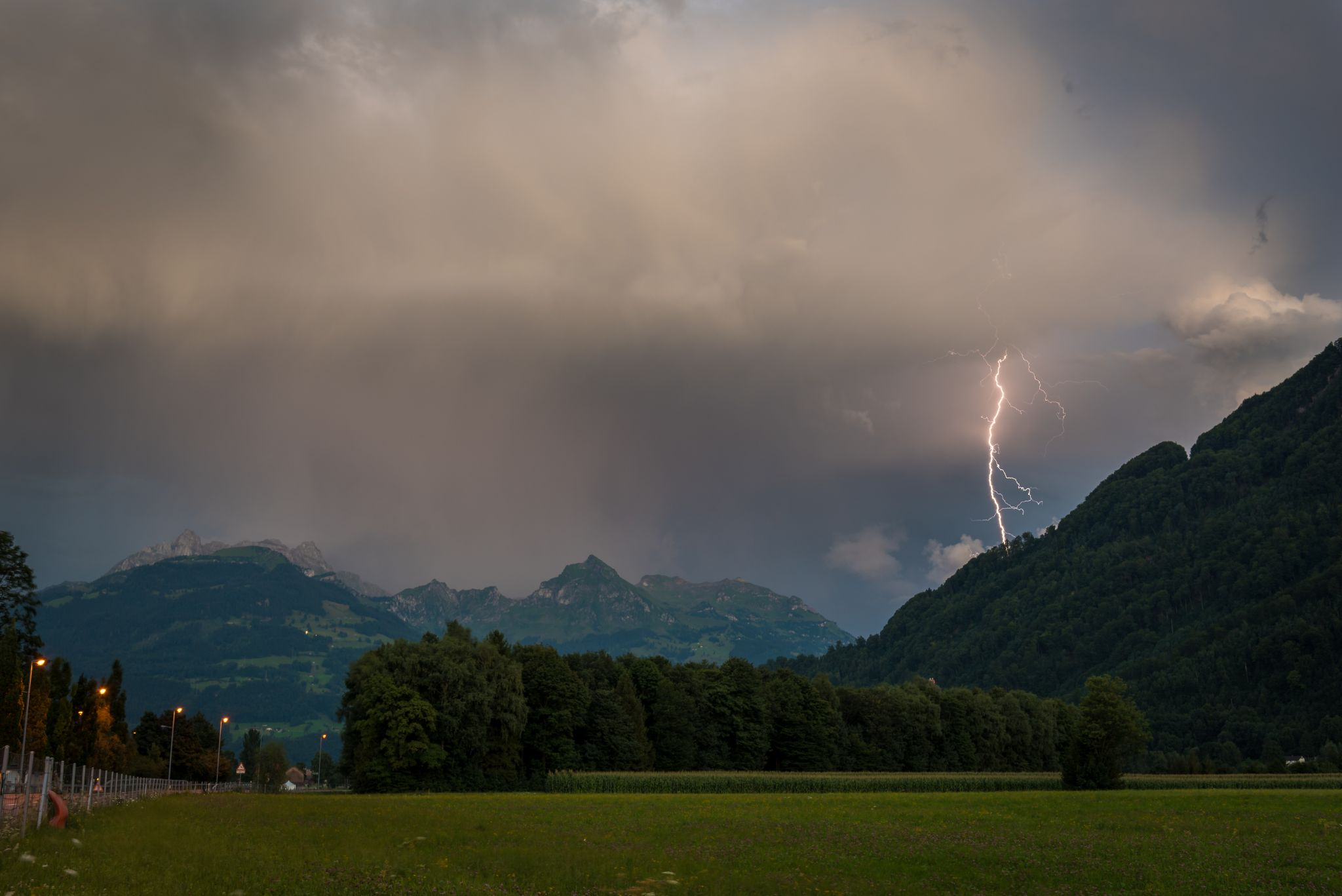 Gewitter in den Bergen, Switzerland