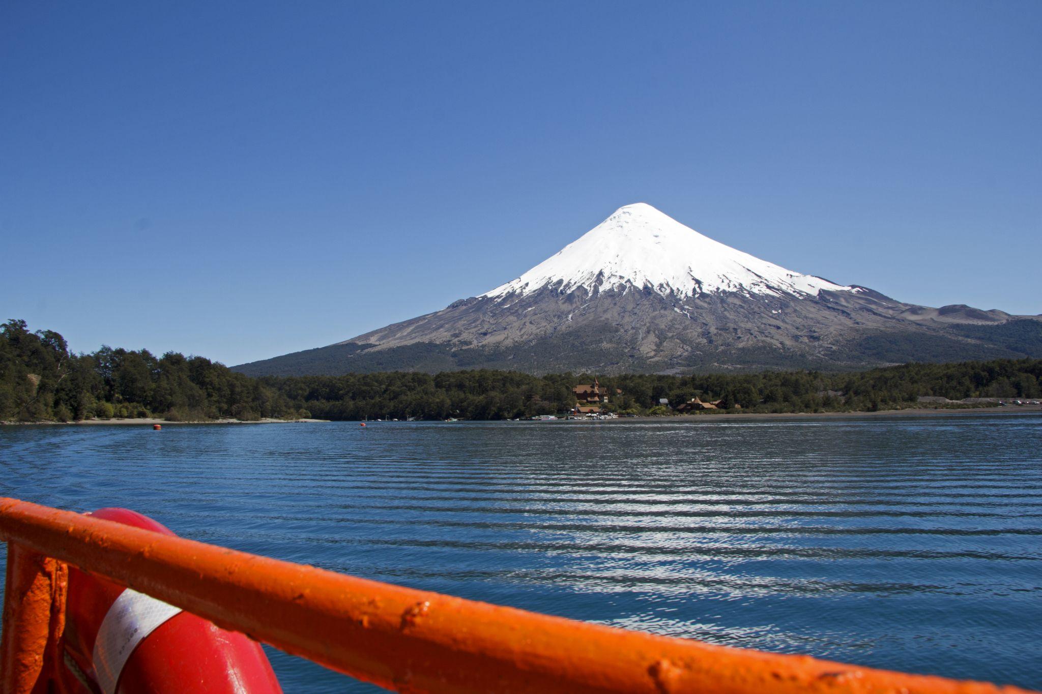Lago Todos Los Santos with Osorno Volcano, Chile