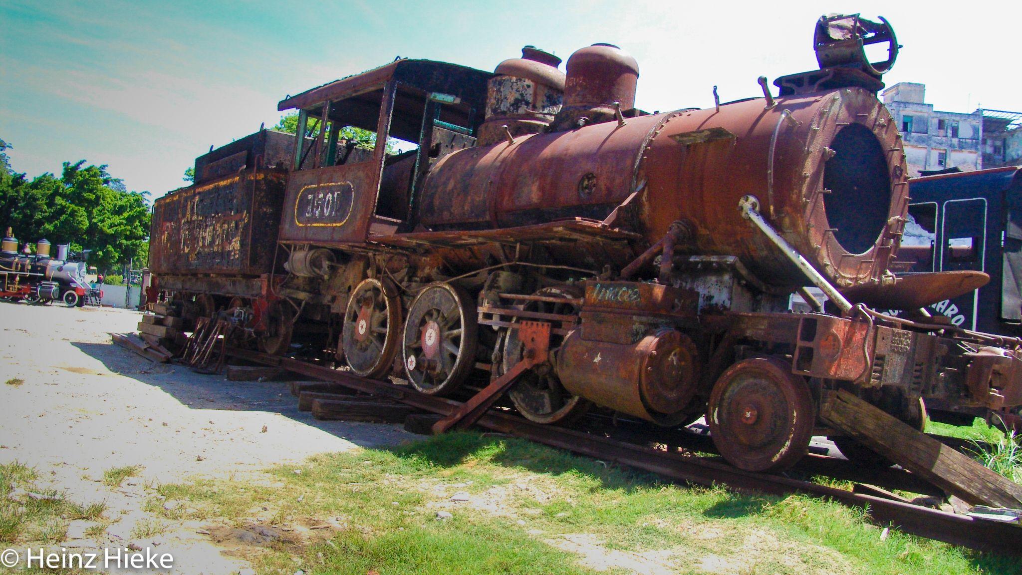locomotive cemetery, Cuba