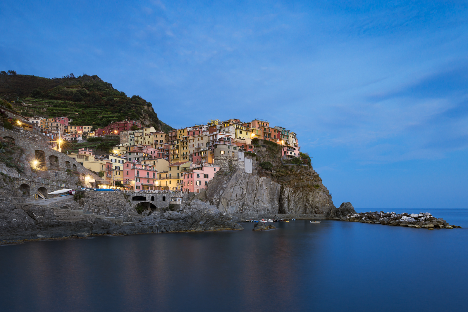 Manarola during the Blue Hour, Italy