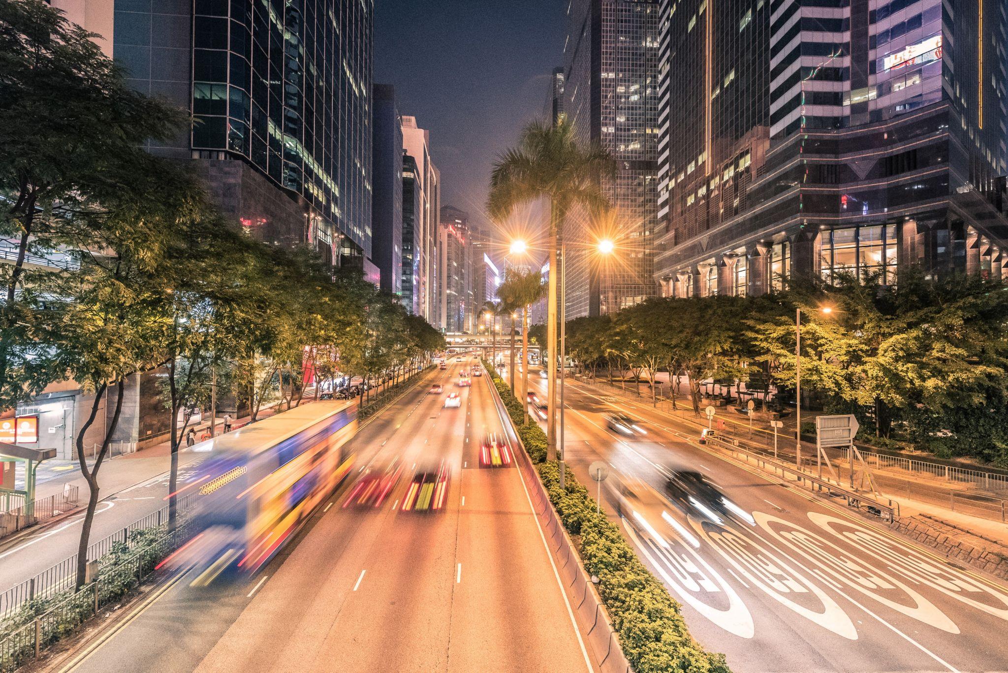 Nightfall in Hong Kong, Hong Kong