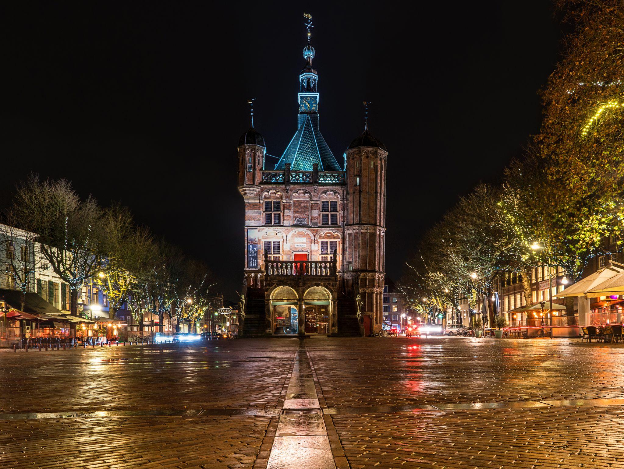 Old Town Hall De Waag in Deventer, Netherlands
