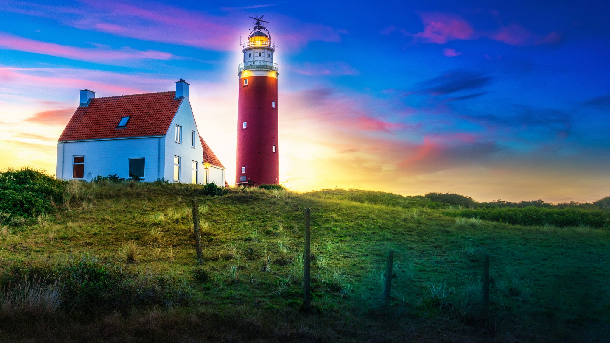 Sunset at Texel Lighthouse, Netherlands