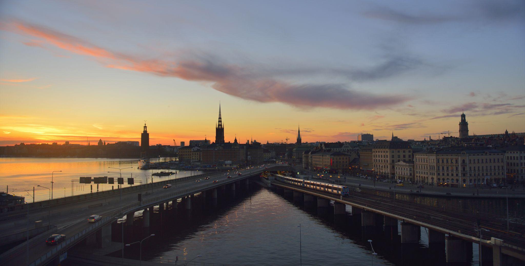 Sunset on Gamla Stan, Stockholm, Sweden