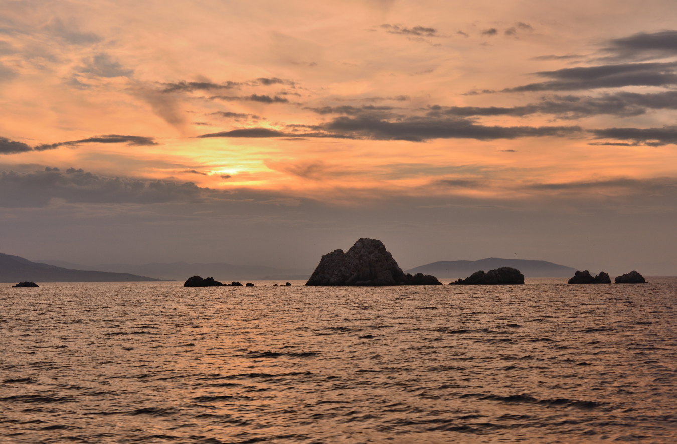 Sunset on the Aegean sea, Greece
