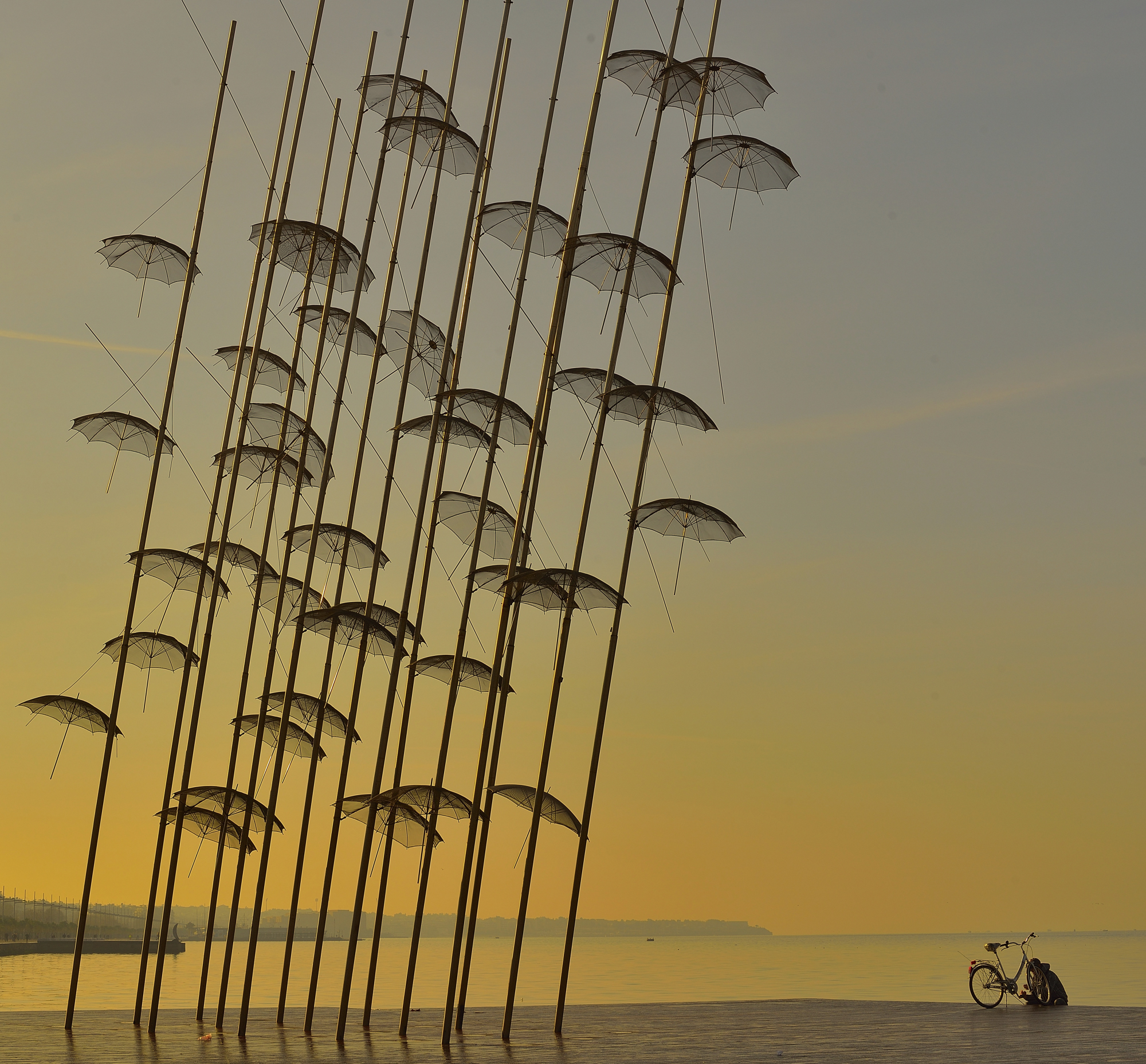 Umbrellas on the Promenade of Thessaloniki, Greece
