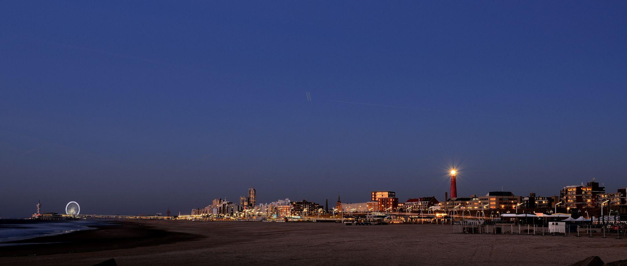 View on the coastline of Scheveningen, Netherlands