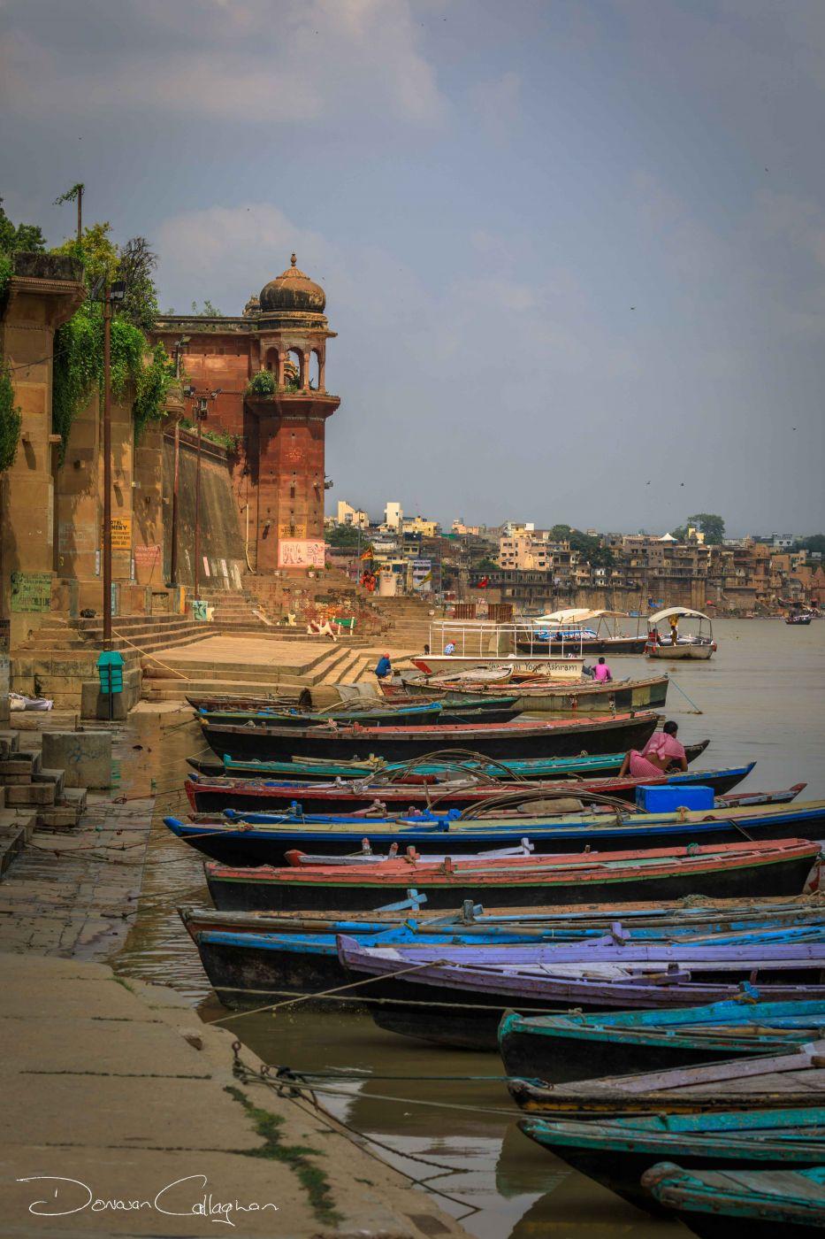 Boats on the Ganges Varanasi, India
