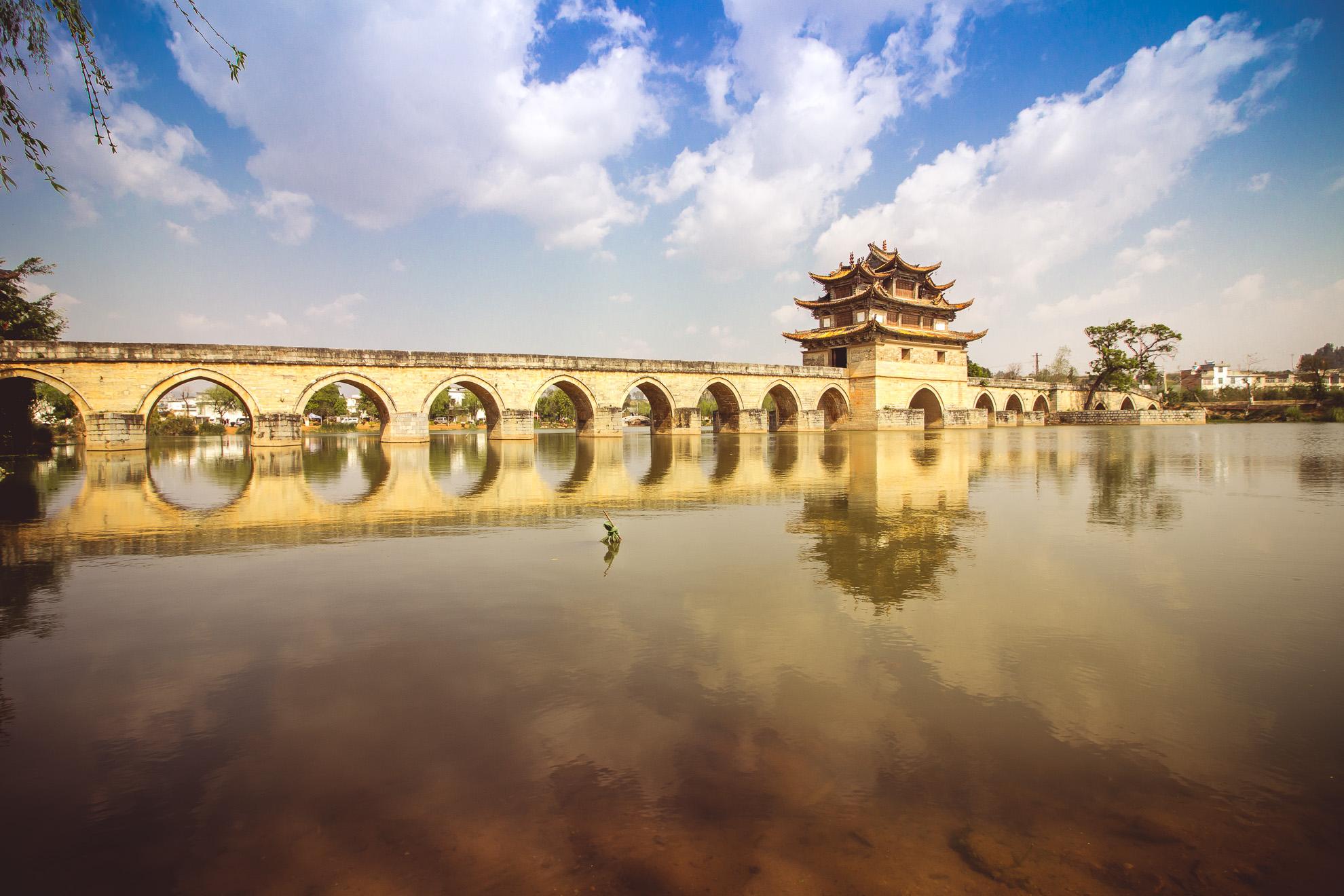 Double Dragon Bridge Jian Shui, China