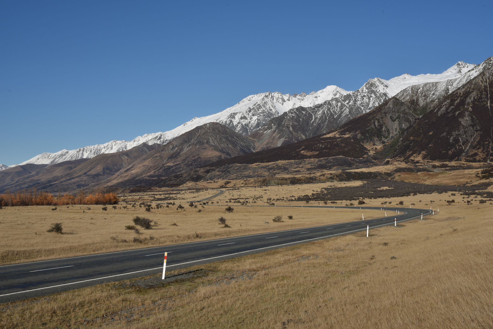 Drive to Mount Cook, New Zealand