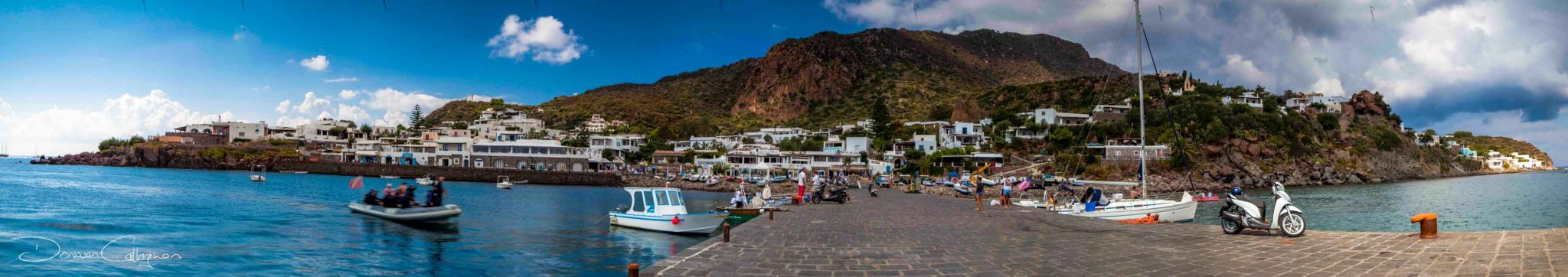 From the wharf on the Island of Panarea, Italy