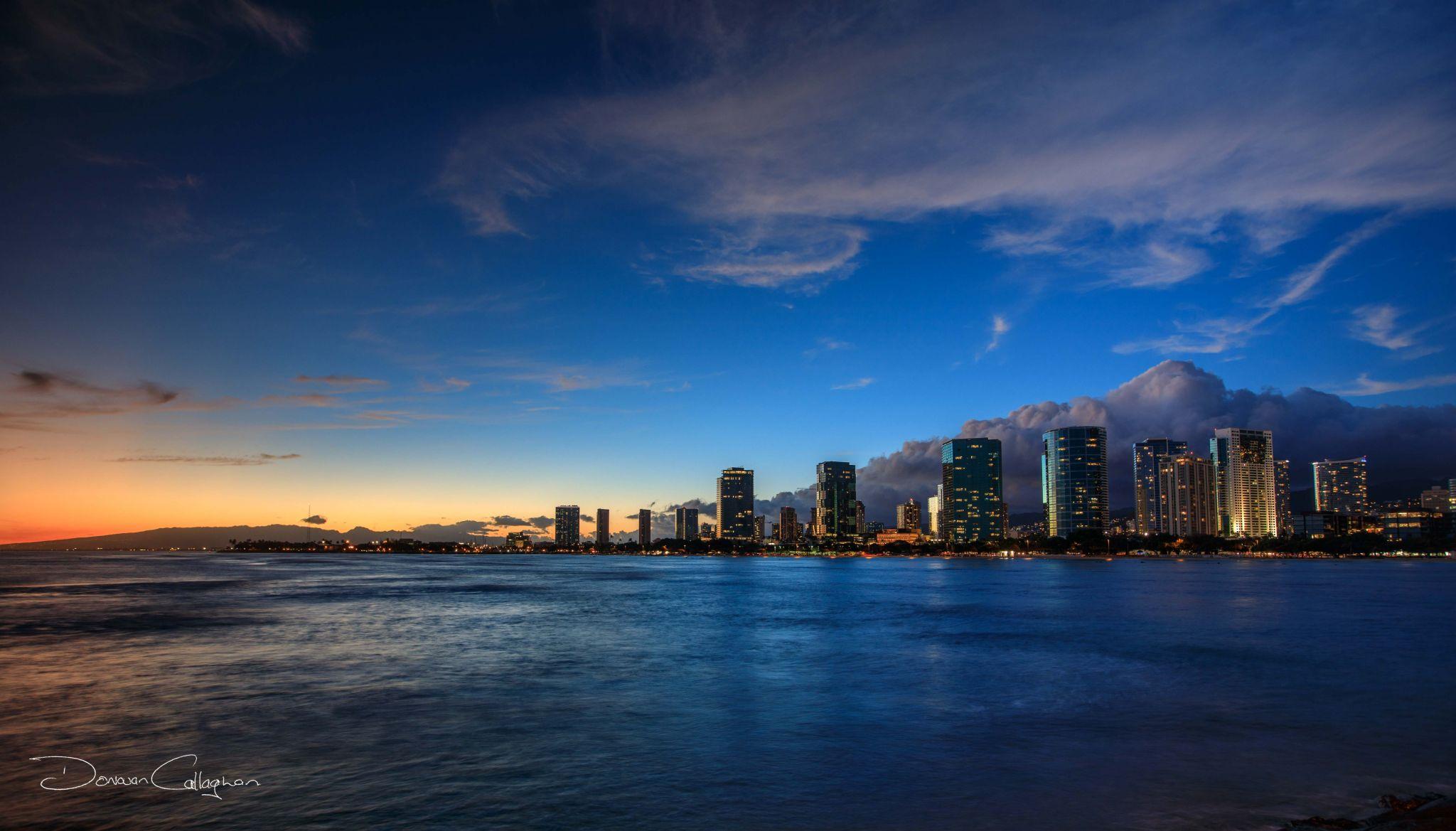Honolulu Sunset, USA