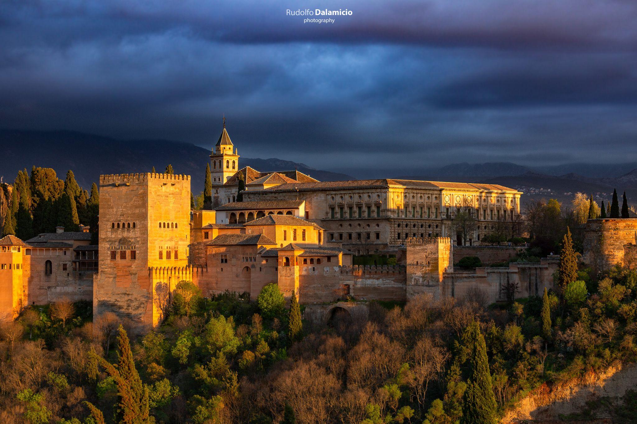 Illuminated Alhambra, Spain