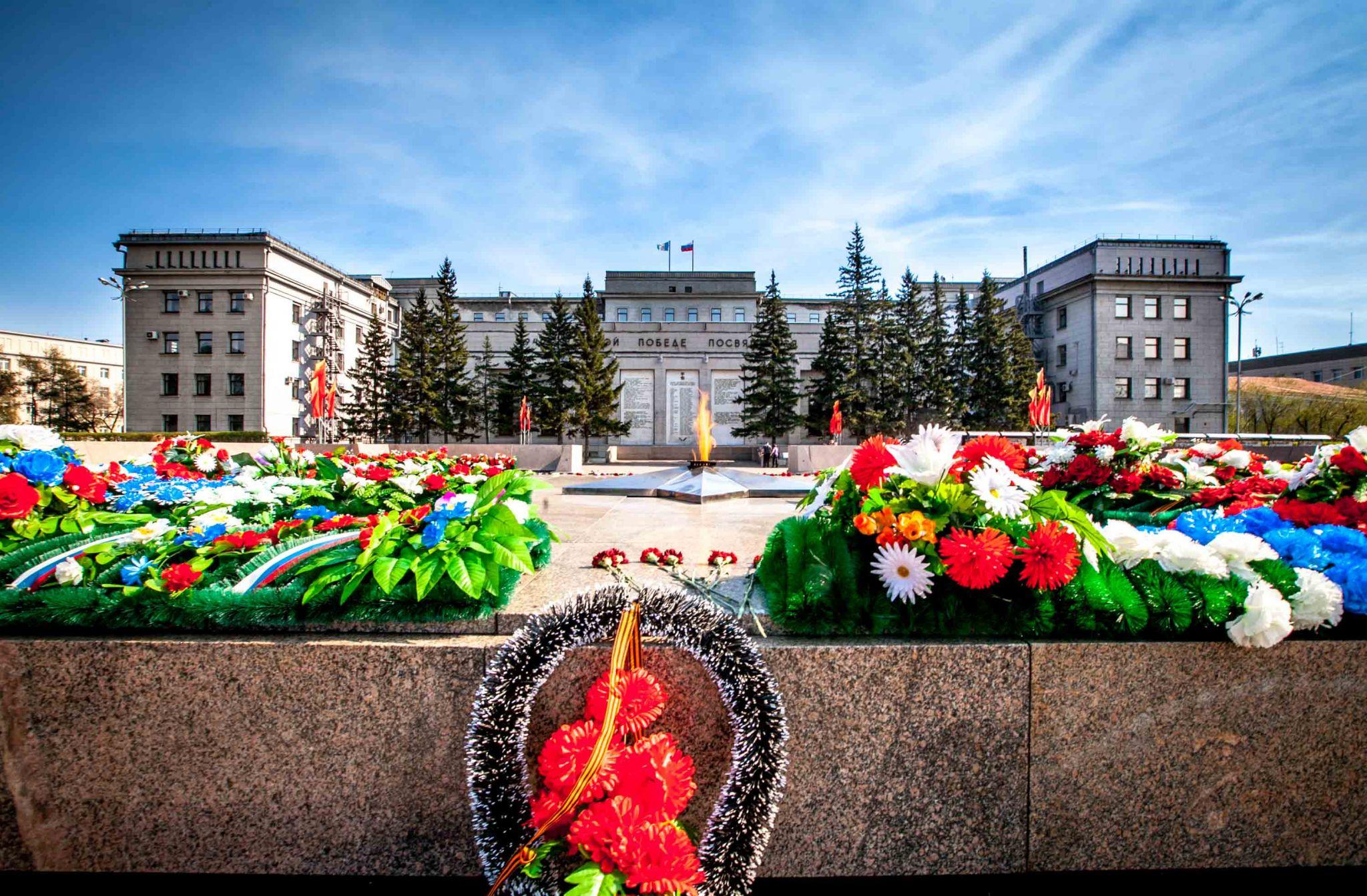 Irkutsk celebration of Victory Day, Russian Federation
