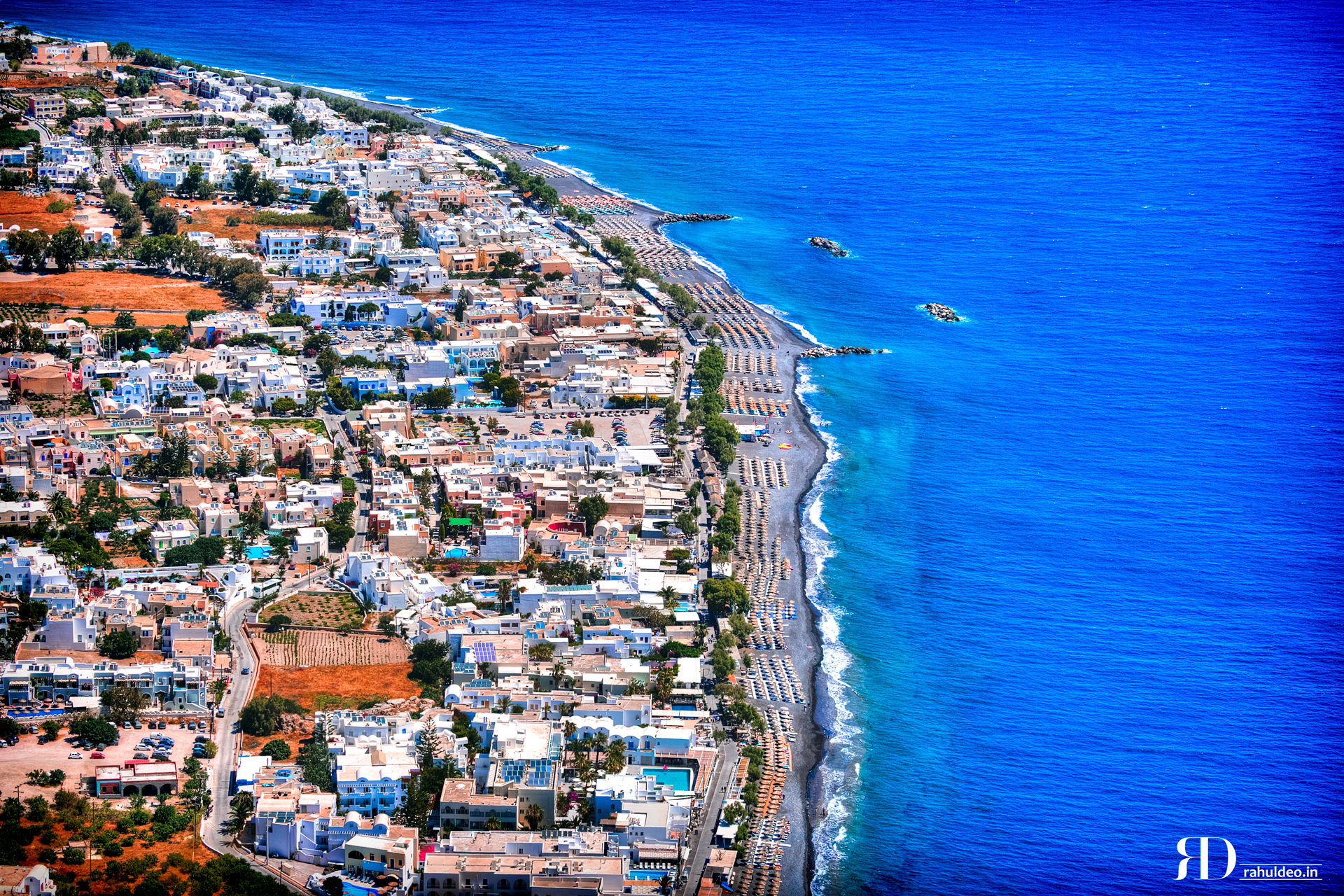 Kamari Beach Santorini Greece, Greece