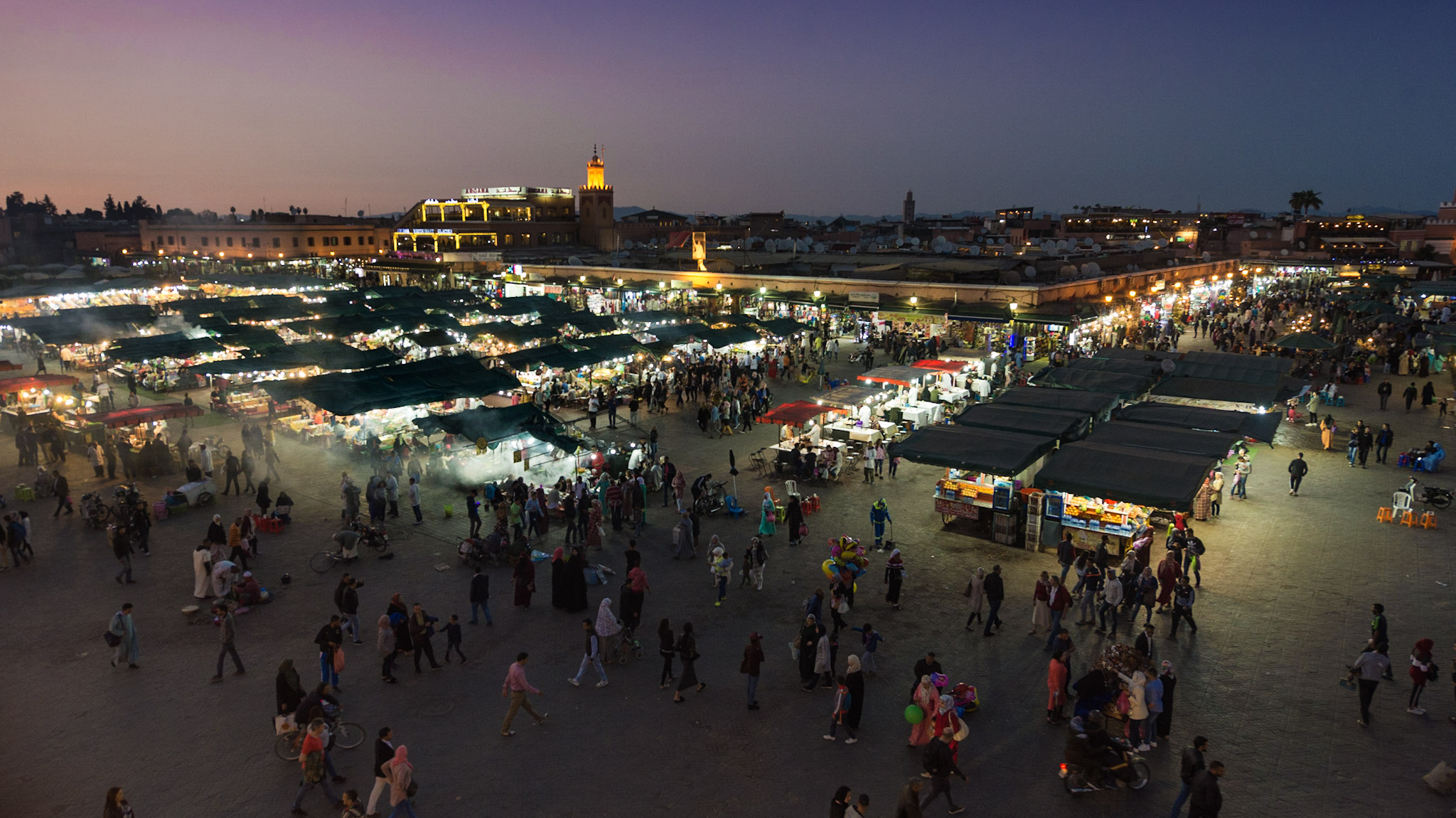 Marrakech Cafe on Jamaa El-Fna, Morocco