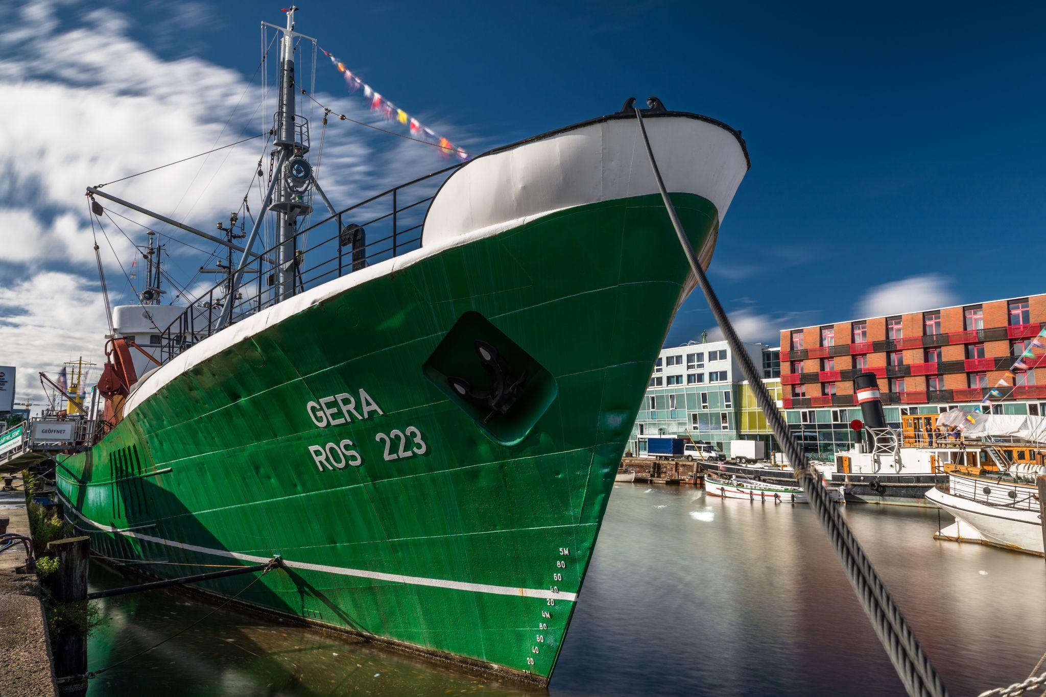 Museumsschiff FMS Gera, Fischereihafen, Bremerhaven, Germany