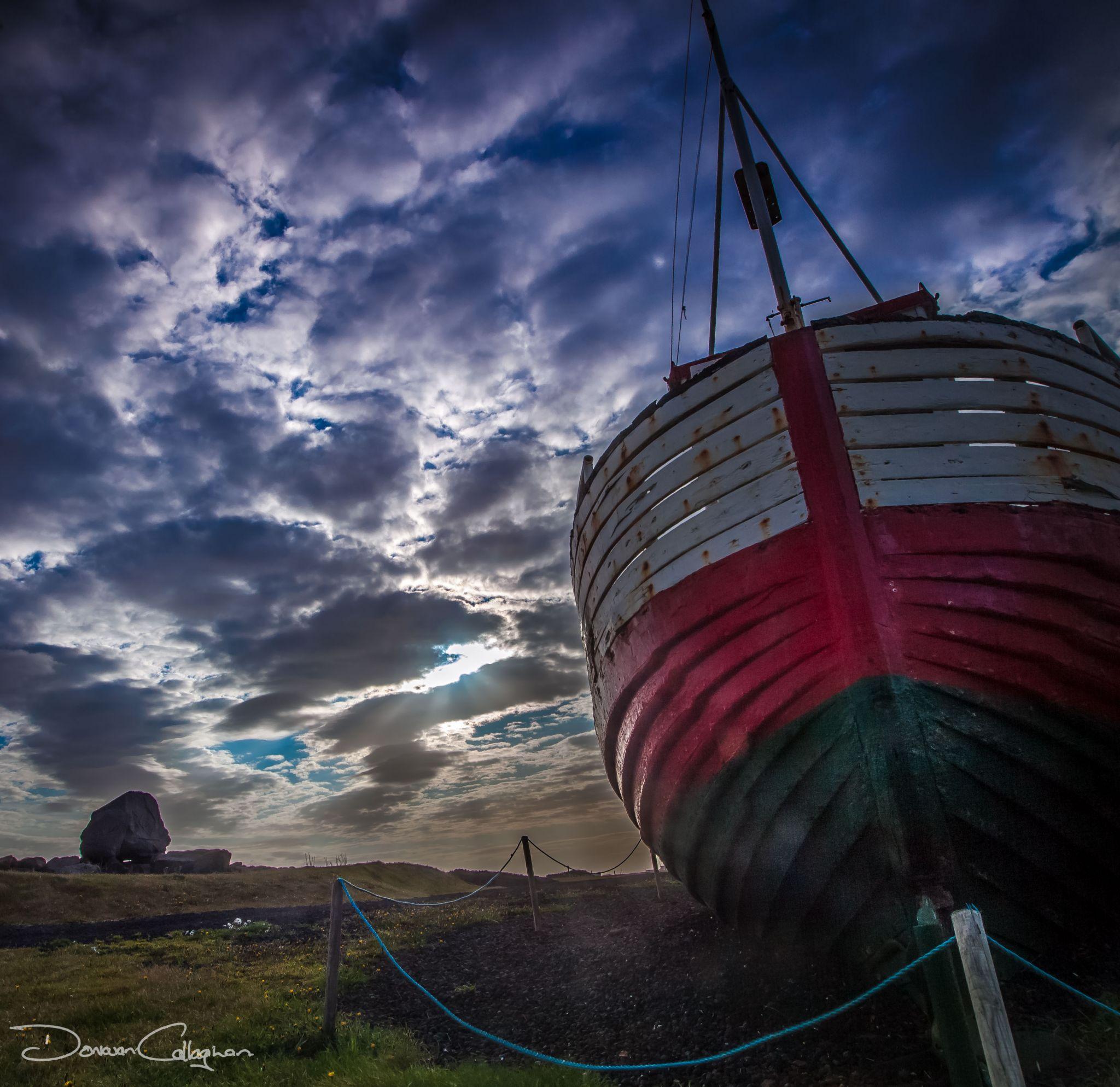 Old Fishing boat Gardur, Iceland